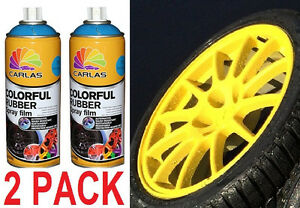 2 pack new yellow plasti dip 13 5 oz spray can rubber. Black Bedroom Furniture Sets. Home Design Ideas