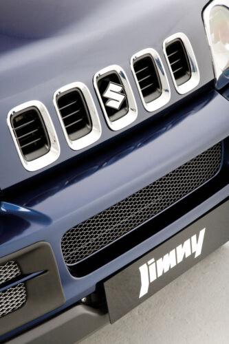 Genuine suzuki jimny front chrome 5pc grill grille cover set 99000-990YB-726