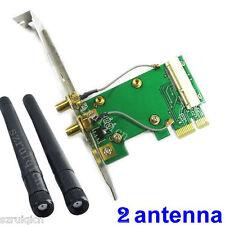 mini PCI-E to PCI-E x1 wireless adapter with 2 antenna