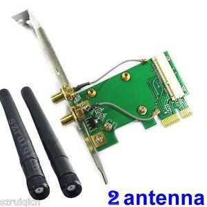 Mini-Pci-e-A-Pci-e-X1-Wireless-Adaptador-Con-2-Antena