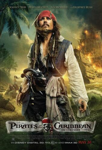Pirates of the Caribbean On stranger tides Poster One Piece Wall Art Print.