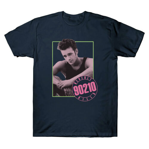 Beverly Hills 90210 TV Show Dylan McKay Luke Perry 80/'s Retro Mens White T Shirt