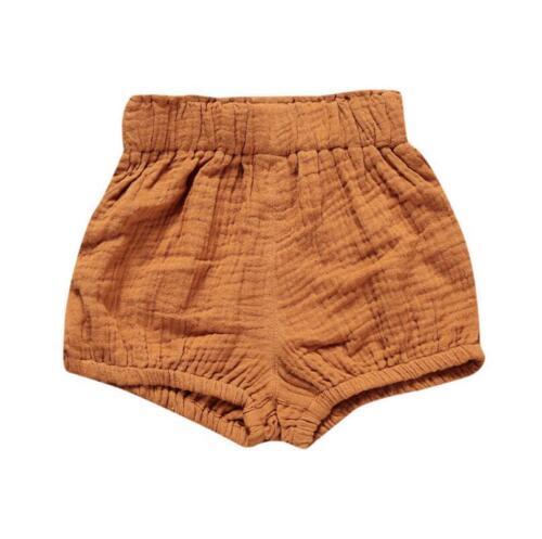 1pcs Baby kids girls boys Bloomers shorts  PP short pants linen Diaper Covers