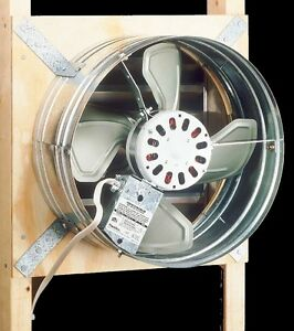 Gable mounted attic exhaust fan whole house air - Bathroom exhaust fan with thermostat ...