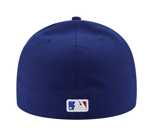 Royal Blue New Era 59Fifty MLB Cap Texas Rangers AC On Field Fitted Game Hat