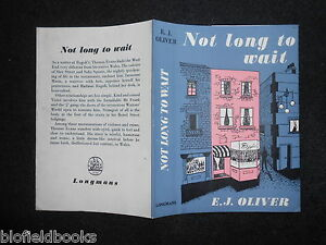 ORIGINAL-VINTAGE-DUSTJACKET-ONLY-for-Not-Long-to-Wait-by-E-J-Oliver-c1950s