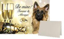 Alsatian/ German Shepherd Dog C5 Valentines Day Card Design VGSD-1 by paws2print