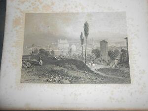 1850-INCISIONE-SU-ACCIAIO-VEDUTA-DI-AREZZO-DA-BROCKEDON-TOSCANA