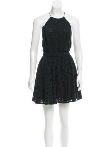 ZIMMERMAN Black Summer Eyelet Cotton Ipen Back Hal
