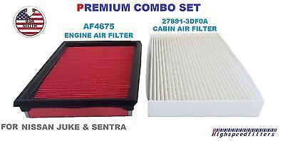 C28183 AF4675 PREMIUM Air Filter Cabin Filter for NISSAN Sentra /& JUKE