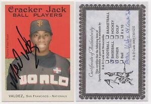 2004 Topps Cracker Jack Baseball Card #217 Merkin Valdez Auto Rookie