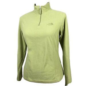 The-North-Face-1-4-Zip-Fleece-Pullover-Jacket-Women-039-s-Small-Light-Green-TKA-100