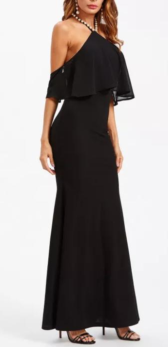 c00f6e851bd ... Abendkleid Neckholderkleid Abschlussballkleid Maxikleid Kleid  Strandkleid S-L bdb1c3 ...