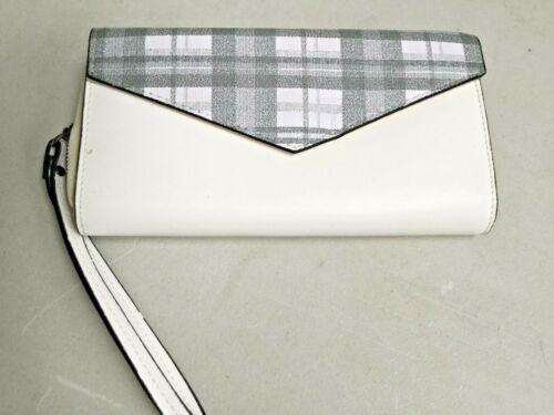 WRIST PURSE FAUX LEATHER WHITE CHECKED HNBK0562