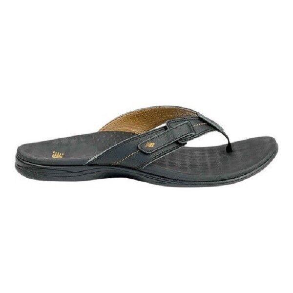 Women New Balance Voyager Leather FlipFlop Sandal WR6102BK Black 100% Authentic