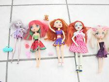"Mixed lot of 5 dolls MGA, Disney, SML X2 La Dee Da, Mattel 9-10"""