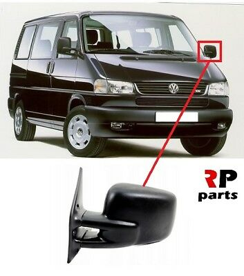 Heated VW Transporter//Caravelle T4 90-03 Right Hand Black Wing Mirror Electric