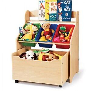 kids toy storage unit w rollout box kids toys bin chest organizer furniture new 747925117160 ebay. Black Bedroom Furniture Sets. Home Design Ideas