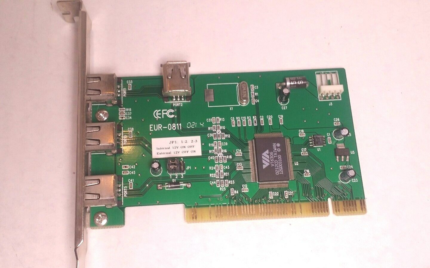 EUR-0811 PCI to 3+1 Ports 1394 Firewire Controller Interface Card
