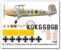 Peddinghaus 1/48 Bu 131 D-2 Lilli-marlen Markings Jg 54 Liaison Plane 1942 1684
