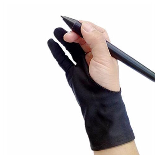 zwei finger größe künstler fingerless der handschuh schwarz antifouling