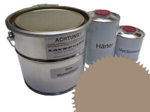 1,5 Liter Set 2K Floor Color Floor Ral 1020 Vinyl-Epoxid-Lack Lackpoint Shine