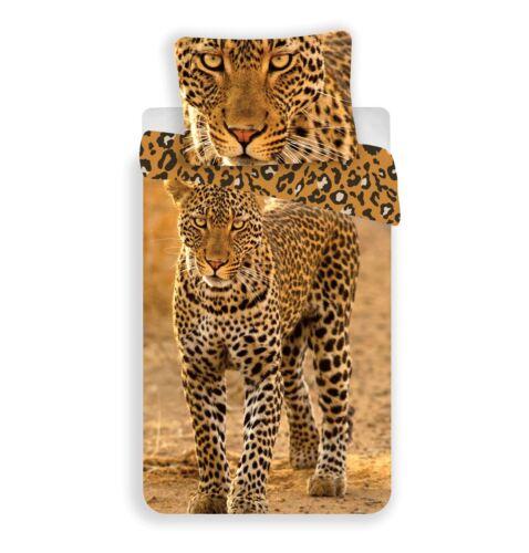 Imprimé Animal Staring Léopard Simple Parure De Lit 100/% coton par besttrend