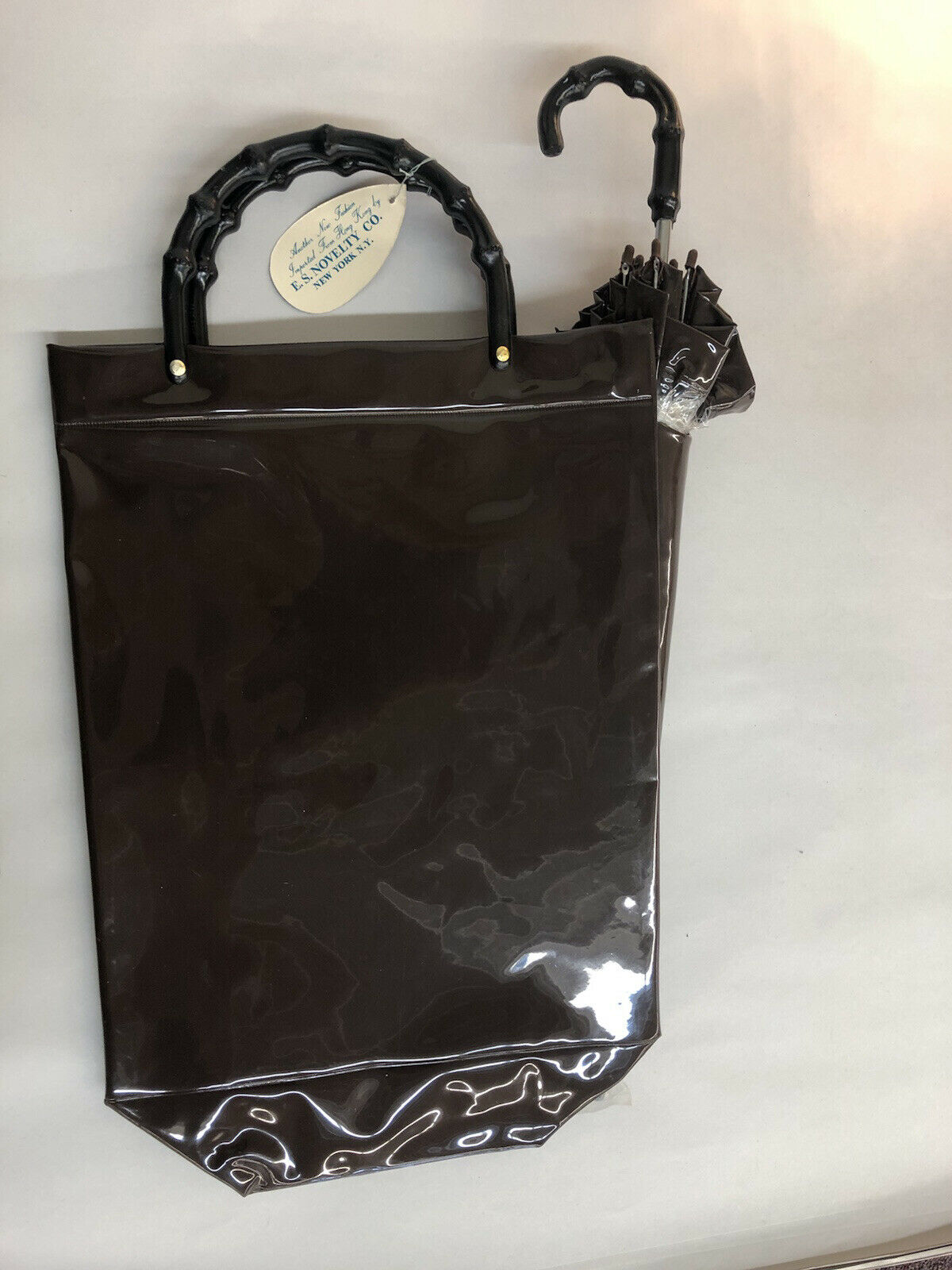 Vintage 60-70's Brown purse handbag carrying case… - image 1