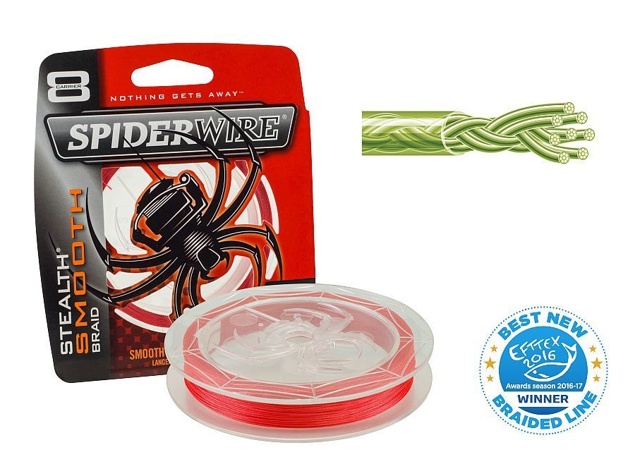 Spiderwire Stealth Smooth 8 Red   300m   Made in USA