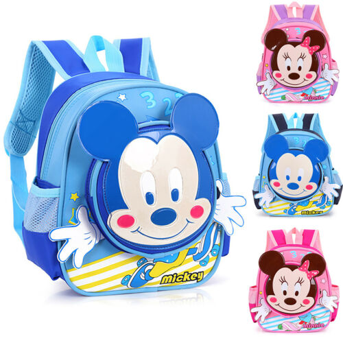 Mickey Minnie Mouse Shoulder Book Bags Kids Children Student Backpack Schoolbags