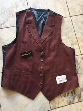 NWT GIANELLI Casual Dress Men's Morgan Vest  Plum 100% Cotton  Size XL