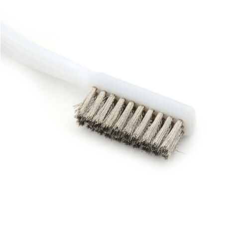 5pcs 6.9-inch Plastic Handle Brass 3 Rows Bristle Cleaning Wire Brush too xl