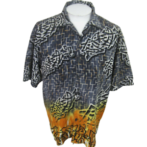 No-Boundaries-Men-Hawaiian-ALOHA-shirt-pit-2-pit-24-camp-urban-graffiti-clubwear
