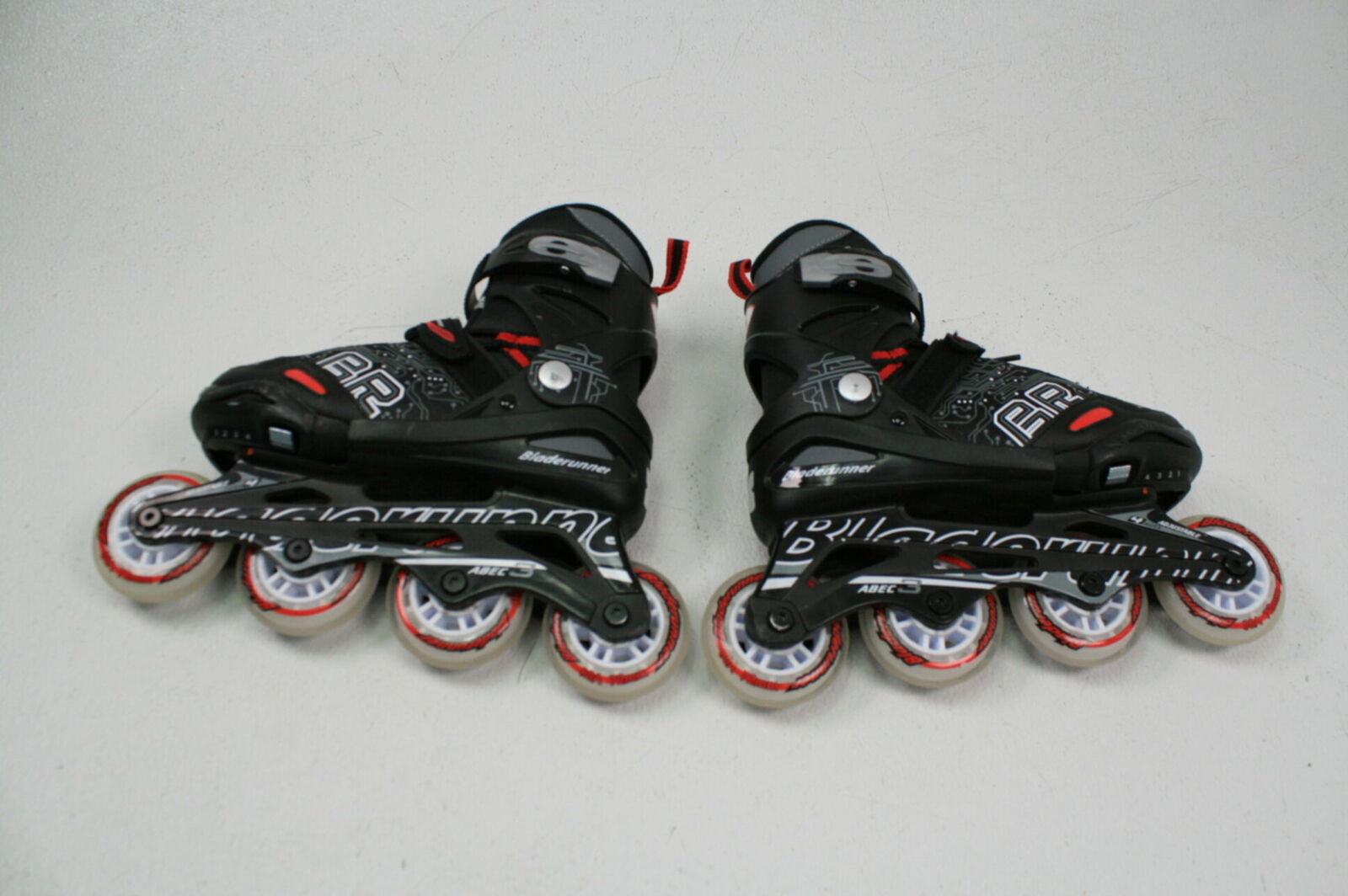 Black and Red Inline Skates Rollerblade Bladerunner Dynamo Jr Size Adjustable Hockey Inline Skate