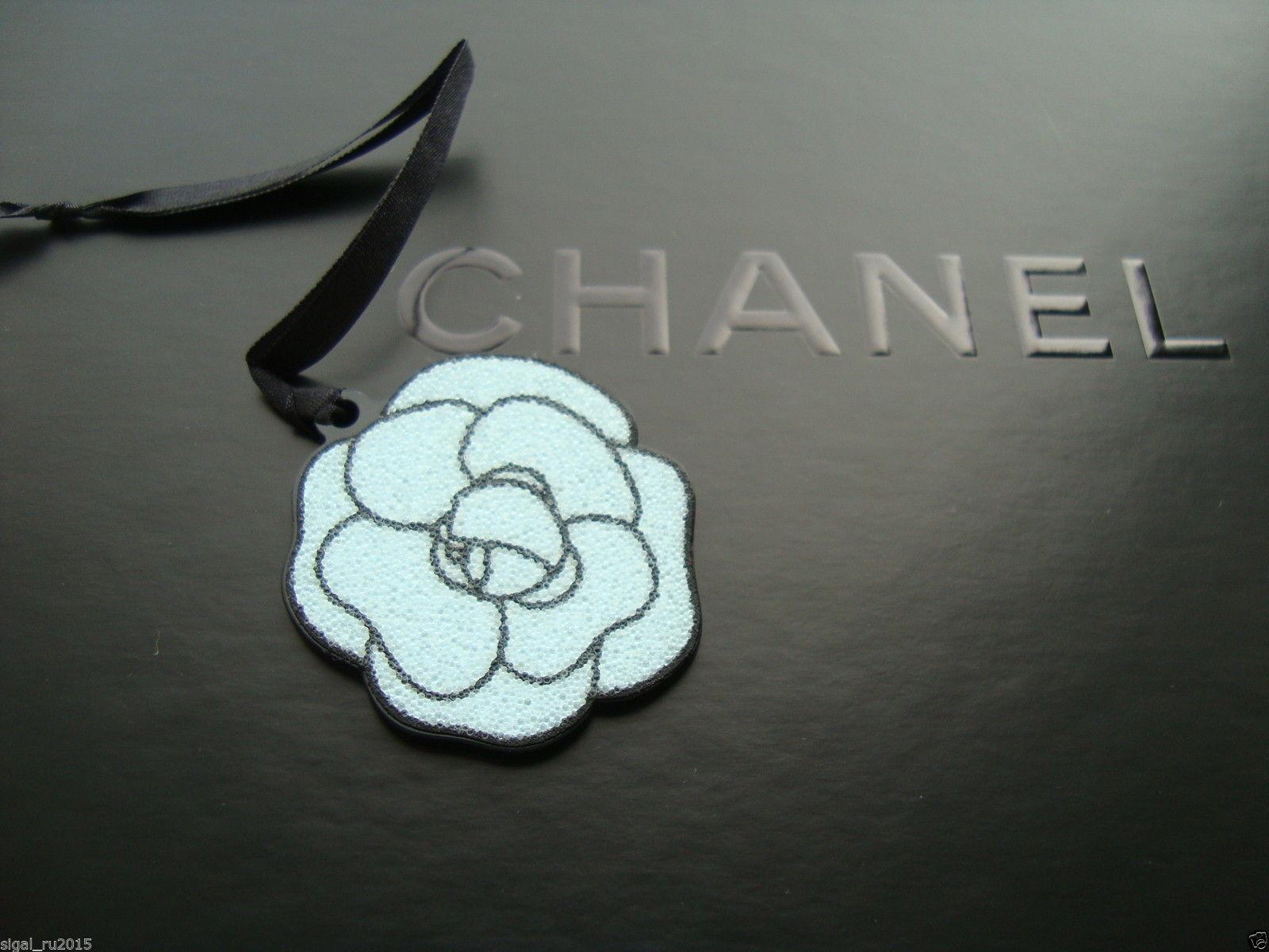 b4e9b750b067 CHANEL Pendant Charm Blue Flower Camellia Small Authentic VIP Gift ...