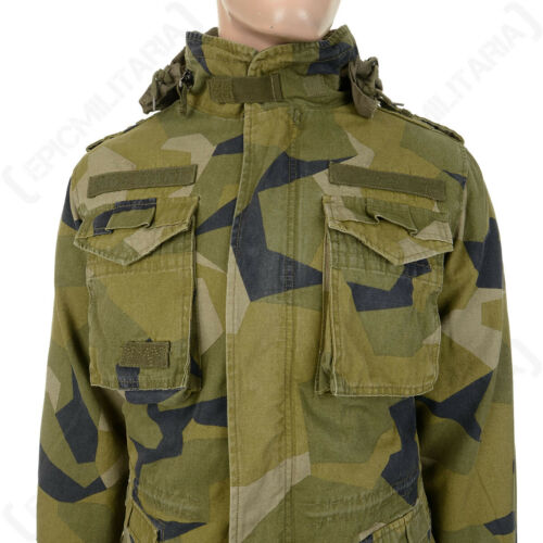 Swedish Camo Brandit M65 Field Military Army Giant Jacket Coat Various Sizes