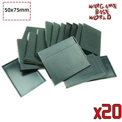 Large 50x75mm Rectangle Wargame Bases Black Plastic Base for Warhammer Miniature