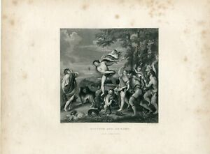Bacchus-ND-Ariadne-Engraved-By-W-H-Worthington-Copy-Of-Ticiano