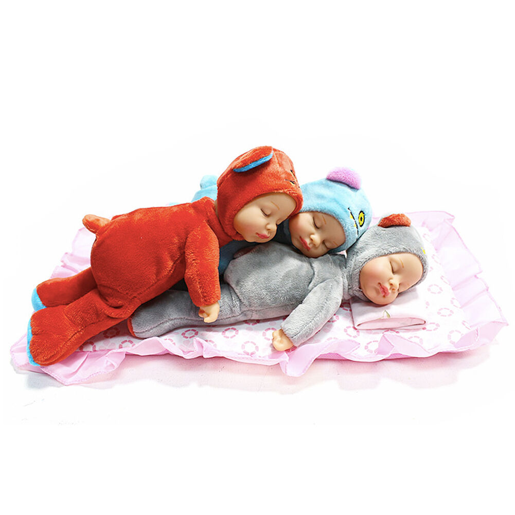 Baby Attachment Doll TOBY Newborn Baby Doll Kids, Baby Gift 10  3pcs 3colors