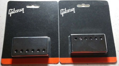 GIBSON Chrome Pickup Cover Set Les Paul Humbucker Neck Bridge Genuine® Parts
