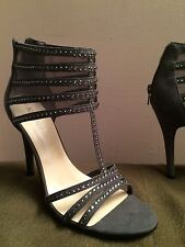 NINE WEST Alderson Sandal Gladiator Heel• Gray •NEW•  SIZE 7 1/2 • FREE SHIPPING