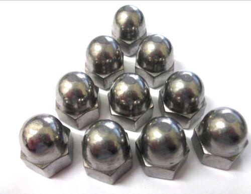 écrou hexagonal * top qualité! A2 en acier inoxydable 10 x M12 Dôme écrous