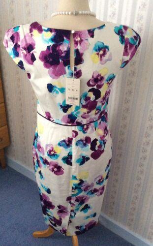 Ivory de bordado mujeres las bordado 12 Monsoon Vestido de Bnwt Thought algodón UK SZwx8twIq