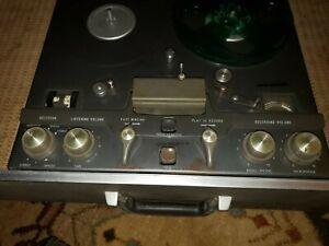 Vintage Ampex 970 Reel to Reel Recorder / Player, w/24+ Reels of Tape