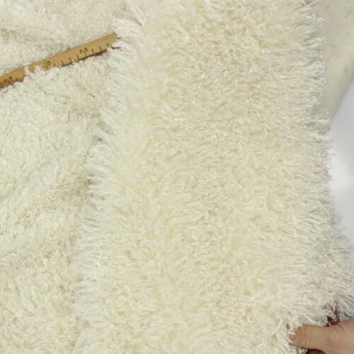 Flokati Luxus Rastafell Weiß glänzend Langhaarzottel soft weich Meterware