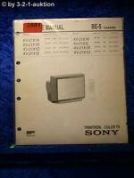 Sony Service Manual KV 21X1D /A /B /E /K /L /R /U (#2881)
