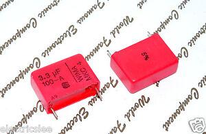 2pcs-WIMA-MKC4-3-3uF-3-3-3-3uF-100V-5-pich-22-5mm-Polycarbonate-Capacitor