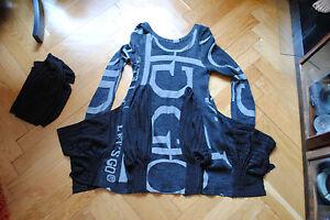 nera 38 lunghe a con manica taglia Camicia lunga Sciarpa tunica abito lunga maniche zqxw4UH