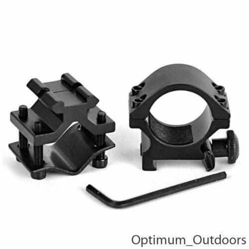 Rifle Gun Barrel monté Lampe Torche//Laser Clamp Holder Mount 25.4 mm ring UK