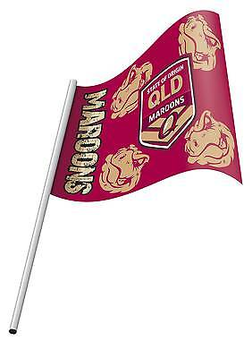 NRL State of Origin QLD Queensland Small KIDS Flag & Pole NEW Polyester 2015